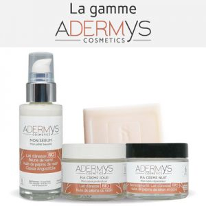 Gamme Adermys Cosmetics Lait d'ânesse bio